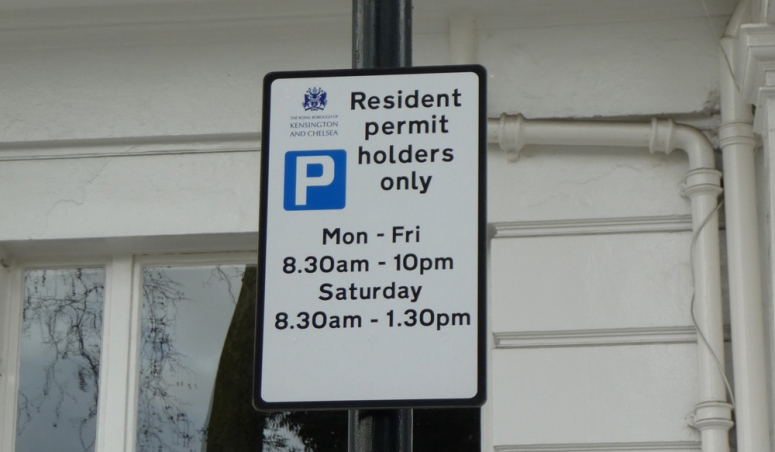 Parking in and Around Onslow Square